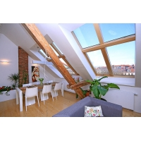 Luxurious, sunny attic apartment near the Prague  Castle  Generála Píky
