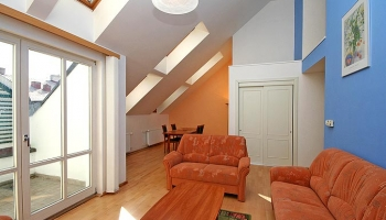 Luxurious, fully furnished duplex apartment in Prague 2 Vinohrady