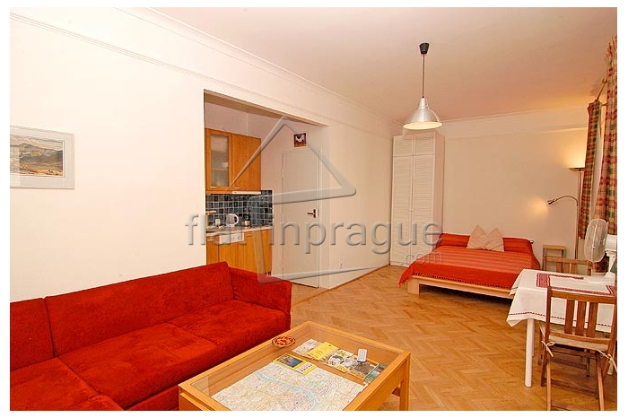 Very cozy and nice apartment in stylish red design with terrace