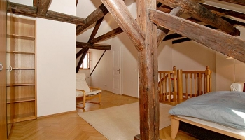 Spacious attic apartment in the historic centre of Prague
