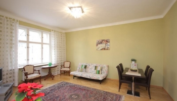 Marvelous three-bedroom apartment with sauna, jacuzzi and balcony in Prague 2