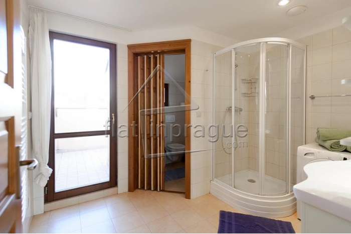 Beautiful attic apartment with terrace in Prague 2 Vinohrady