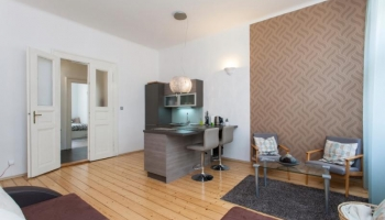 Bright, modern, furnished one bedroom apartment