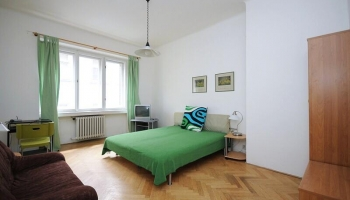 Fully furnished two bedroom apartment in  color style on the border of Vinohrady