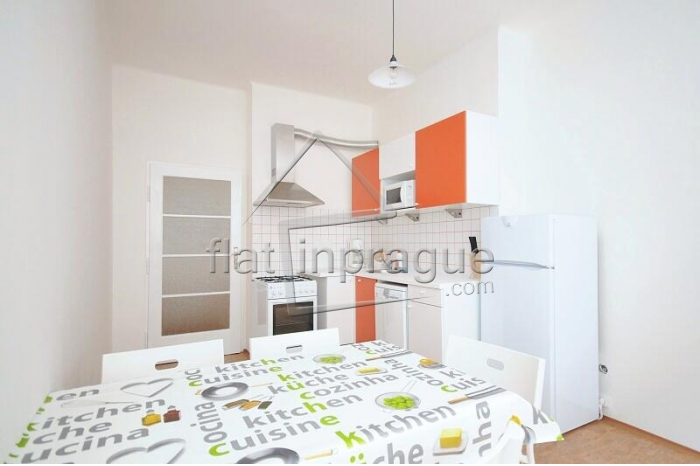 Fully furnished two bedroom apartment on the border of Vinohrady and Vrsovice