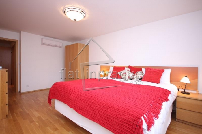 Beautiful penthouse apartment with air conditioning in Prague 2 Vinohrady