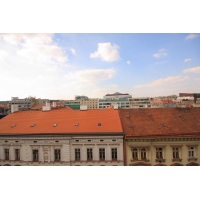 A nice studio apartment with air conditioning and a terrace in Prague 8 Karlin