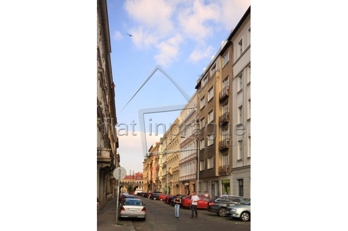 A nice studio apartment with air conditioning and terrace in prague 8 Karlin