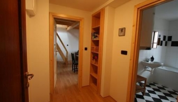 Nice, furnished one room duplex apartment with terrace