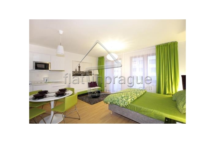 We offer for rent this bright, modern furnished studio with balcony
