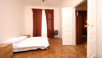 Beautiful, luxury three bedroom apartment for rent, brick building in Prague 2 -