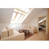 Comfort, fully equipped attic apartment