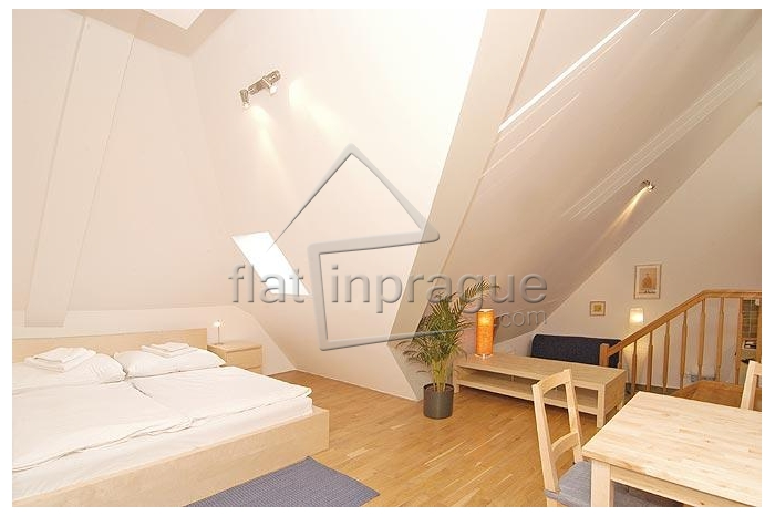 Bright attic studio in the city centre