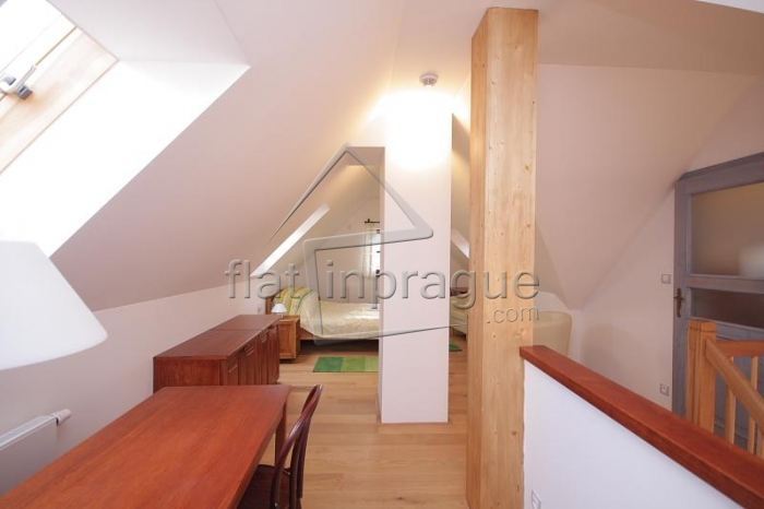 Luxury duplex apartment 3 + kk with a functional fireplace in a quiet residence