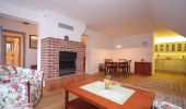 Luxury duplex two bedroom apartment with a functional fireplace  K Bohnicím