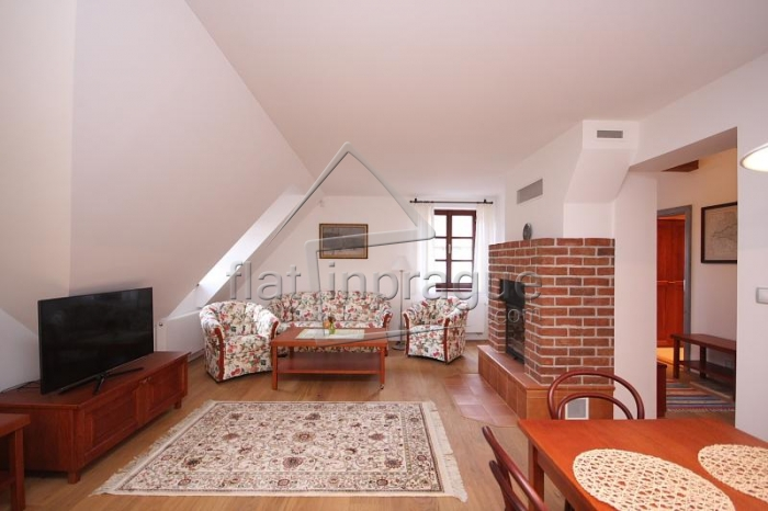 Luxury duplex two bedroom apartment with a functional fireplace
