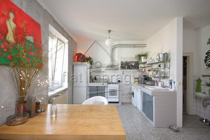 Beautiful distinctive one bedroom apartment in a pleasant location on Prague 3