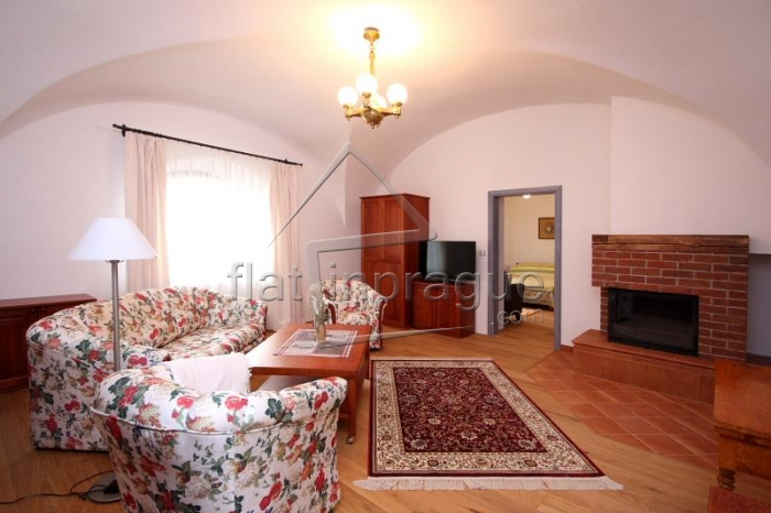 Romantic one bedroom apartment with a functional fireplace