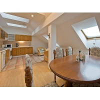 Spacious attic apartment in the city centre