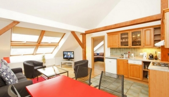 Stylish top floor one bedroom apartment next to Wenceslas square