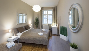 Bright, spacious one bedroom apartment in the centre of Prague