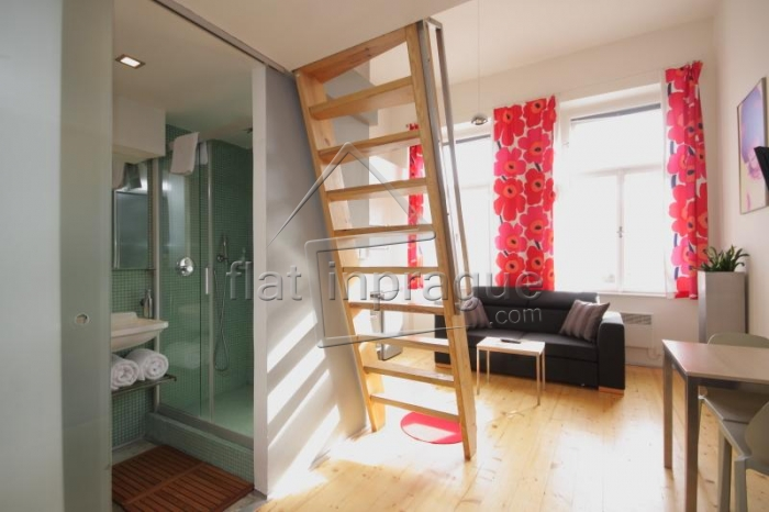 Beautiful, modern furnished studio apartment in Prague 5