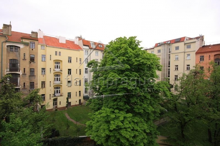 Luxury duplex apartment with fireplace and sauna in Prague 2 Vinohrady